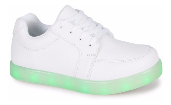 Tenis Andrea Color Step Luces Led Blancos Colegiales 2060