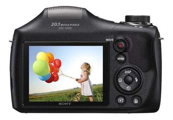 Câmera Digital Sony Dsc-h300, 20.1mp, Filma Hd, Cartão 8gb