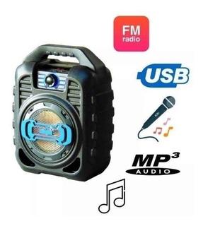 Parlante Portatil Bluetooth Karaoke Luces Bat. Zealot Mce123