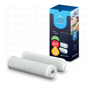 Kit Repuesto Filtros Purificador De Agua Aqua Vita Smart-tek