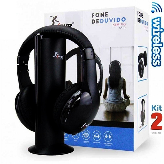 Headset Wireless Knup Fone De Ouvido S/ Fio - Kit 2 Unidades