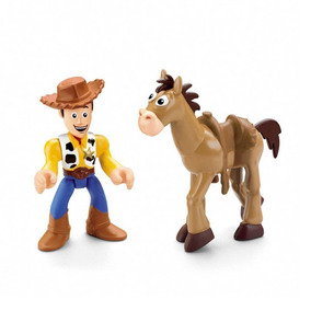 Imaginext Disney Toy Story Figura Woody E Bala No Alvo