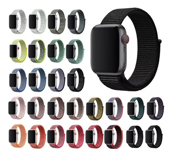 1 Pulseira Nylon Loop Sport Apple Watch 1 2 3 4 38mm E 40mm