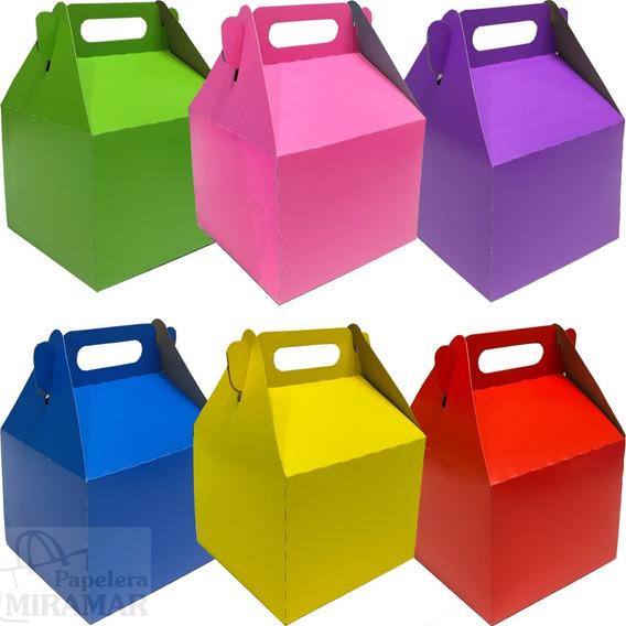 10 Cajitas Feliz Sorpresita Cotillon Cumple Cajas Colores