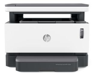 Impresora multifunción HP Neverstop 1200W con wifi 220V blanca y gris