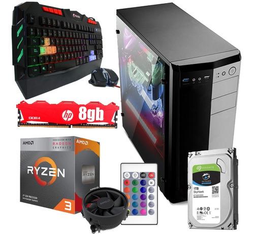 Imagen 1 de 8 de Pc Gamer Ryzen 3 3200g 8gb Ram 1tb Hdd Placa Video Vega 8 Rx