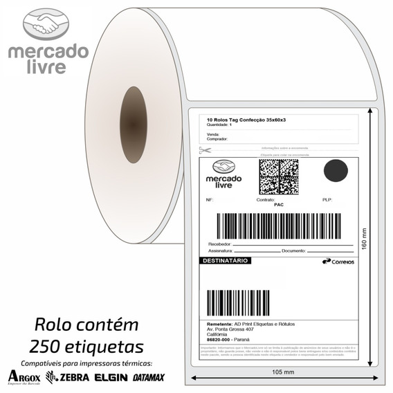 2500 Etiquetas Correios E Mercado Envios