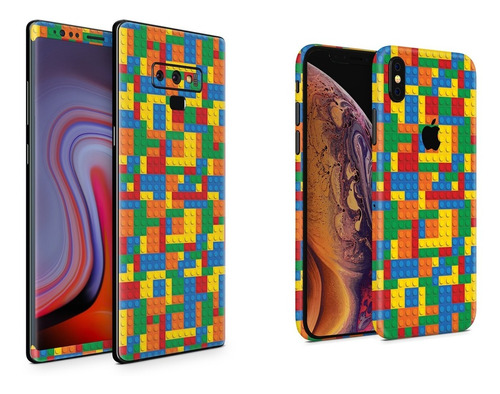 Skin Bloques Colores Apple Samsung Huawei LG Sony Xiaomi Etc