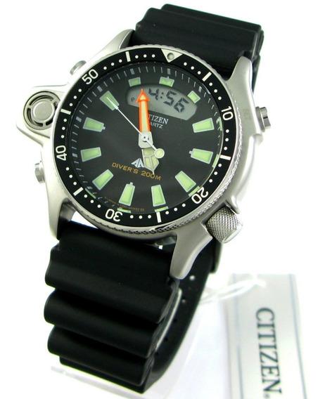Relógio Citizen Aqualand Jp2000-08e Série Prata Tz10137t Relançamento Co22 Co23 Promaster Scuba Dive Cal. C520 Mergulho
