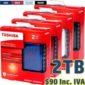 $90 Incl.iva Disco Externo 2tb Toshiba Advance 2 Años Gartia