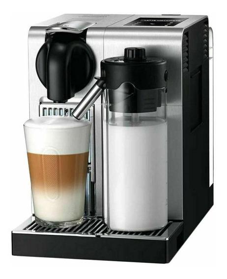 Cafetera Nespresso Lattissima Pro Plata + Capsulas Cafe