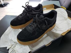 Zapatilla Af1 Nike Negra Gamuza