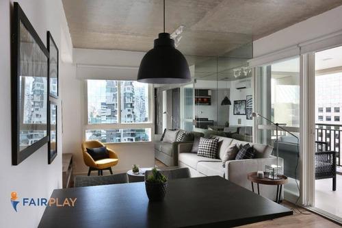 Apartamento No Brooklin 1 Suite, 63m De Area Util, 1 Vaga De Garagem ! - Ap4051