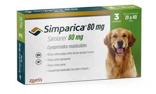 Imagen 1 de 3 de Simparica 20 A 40 Kg - 3 Comprimidos