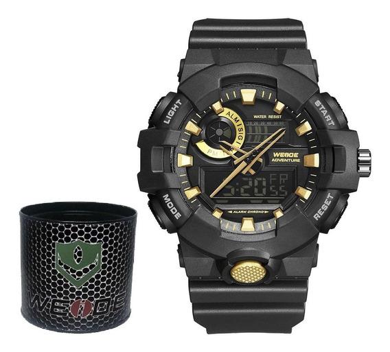 Relógio Masculino G-shock Weide Dourado Original Dj0085