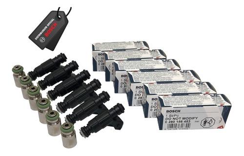 Jogo 6 Bicos Bosch 65lbs 0280156453 + Jogo Prolongador 29mm