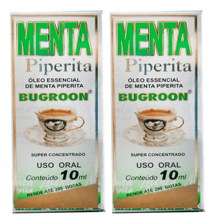 Óleo Essencial Menta Piperita 10ml X 2 - Bugroon
