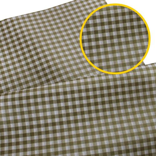 Papel De Seda Estampado 50x70 Pacote Com 50 Xadrez Ouro