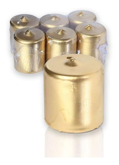 Vela 5 Cm X 5 Cm Dourada