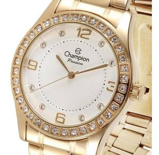 Relógio Champion Passion Feminino Dourado Promoção Cn29187h