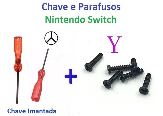 Nintendo Switch - Chave Y + 4 Parafusos Y Para Join N Switch