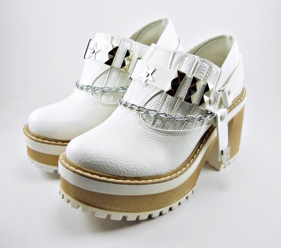 Zapato Moda Plataforma Con Herrajes Apliques Moda Dama