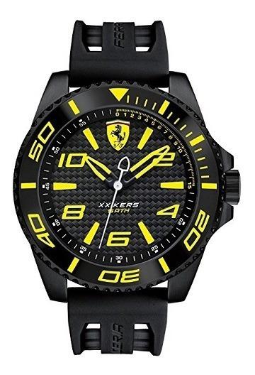 Relógio Scuderia Ferrari Masculino Borracha Preta - 830307
