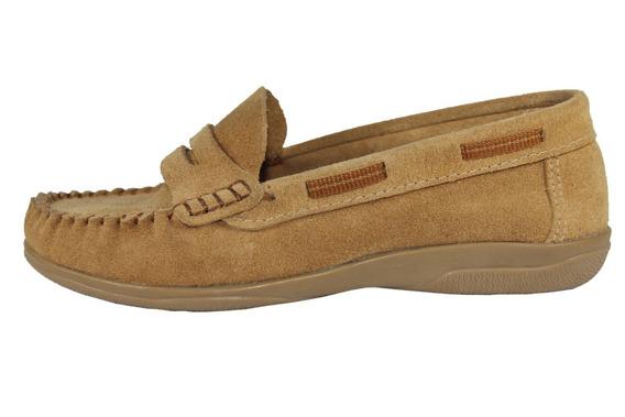 Zapato Infantil Klivers De Gamuza Beige 27 Al 34
