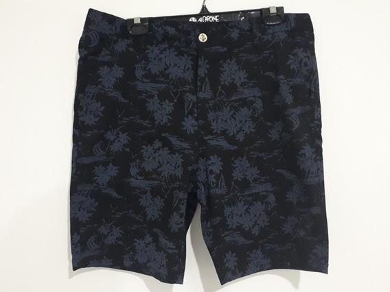 Short Bermuda Lanzo 5481 Diseño Negro Y Gris Relax