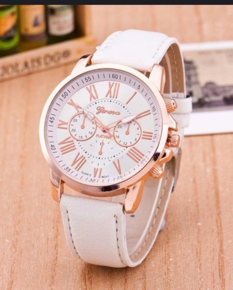 Relógio Analógico Branco Femino