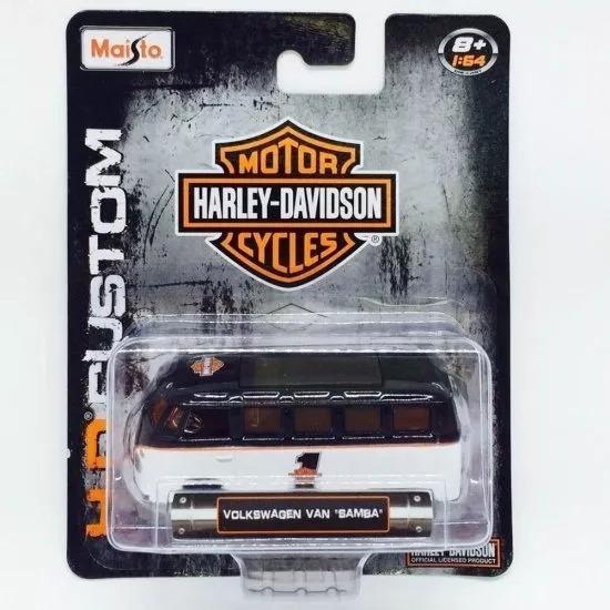 Miniatura Volks Kombi Van Samba Harley Davidson 1:64 Maisto