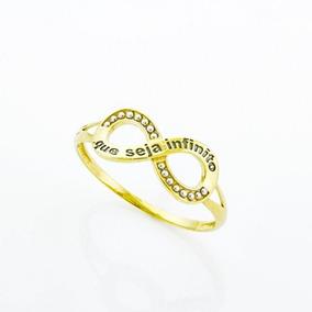 Anel Símbolo Do Infinito De Ouro 18k/750 Falange Jkilato E20