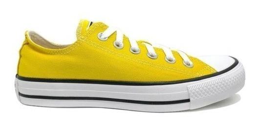 Tênis Converse Chuck Taylor All Star Preto Amarelo Promoção