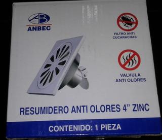 Resumidero Anti Olores De 4 ´´ Zinc, Anbec