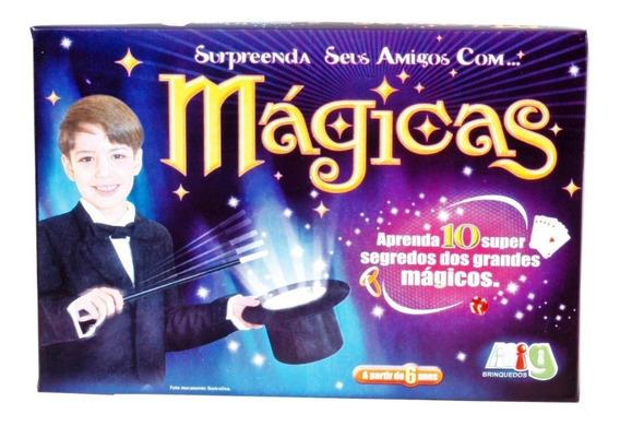 Jogo Infantil Caixa De Mágicas 10 Truques - Nig Brinquedos