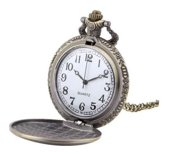 Reloj De Bolsillo Con Cadena Cuello O De Bolsillo Metalica