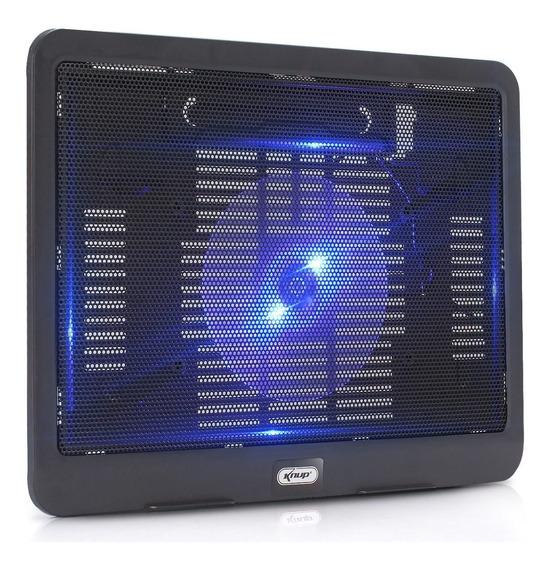 Suporte Base Cooler Notebook 15.6 Knup Kp-9014 Usb Metal Led