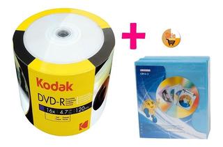 Dvd-r Virgen Torre X100 Disk 4.7gb + Felpa Estuche X100unid