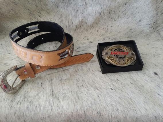Kit Pbr Fivela Cowboy + Caixa + Cinta Country Pbr