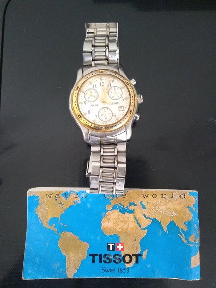 Relógio Tissot Pr50 Cronograph Date Cristal Safira J178/278