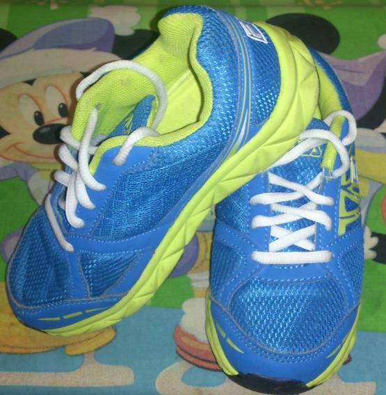 Zapatos Fila Originales Azules Unisex (niño- Niña) Talla 33