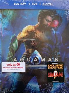 Aquaman Jason Momoa Digibook Target Pelicula Blu-ray