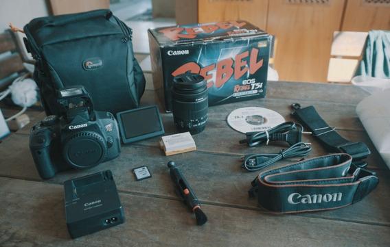 Canon T5i + Lente18-55mm + Bolsa + Caixa + Cartão 16gb + A Vista 1899,00