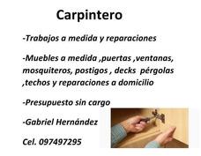 Carpintero Trabajos A Medida Y Reparaciones A Domicilio