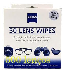 Lens Wipes Zeiss Com 500 Lenços Umedecidos Envio Hoje Mesmo!