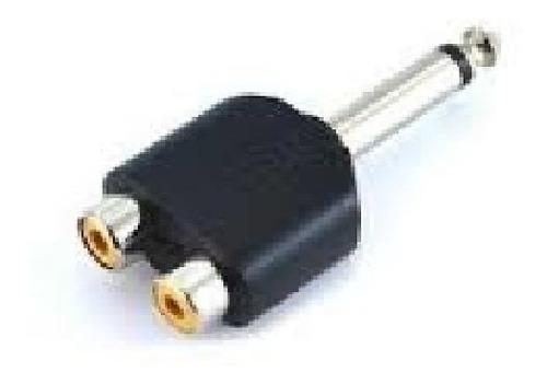 Imagen 1 de 3 de Adaptador Plug 6.5 Mono - 2 Hembra Rca