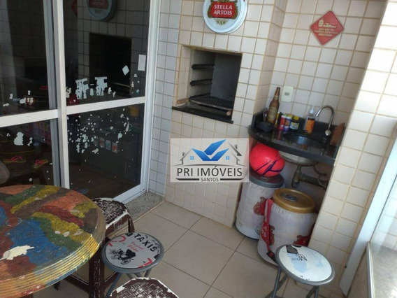 Apartamento À Venda, 77 M² Por R$ 412.000,00 - Ponta Da Praia - Santos/sp - Ap1217