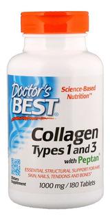 Colágeno Tipos 1 E 3 Com Peptan 1000mg 180 Tabletes Cod. 212