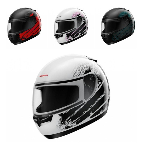Capacete Moto Honda Hfs Fechado - Diversas Cores