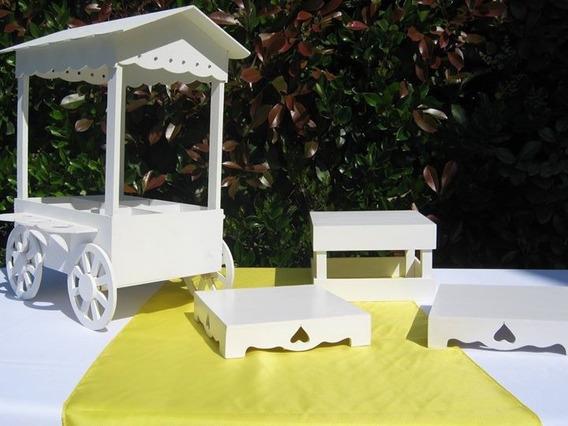 Alquiler Piezas Candy Bar Blancas Kiosco Mesa Dulce Combo